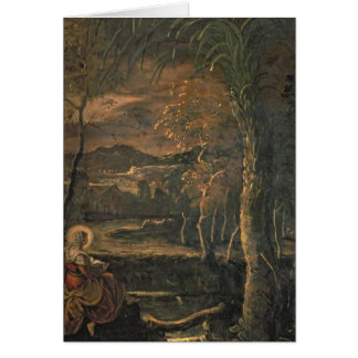 St. Mary of Egypt in the Wilderness Greeting Card
