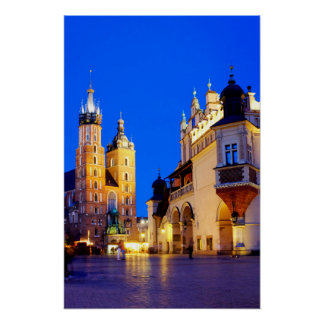St. Mary's Basilica and Cloth hall Poster