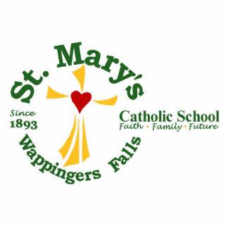 St. Mary's Catholic School Logo Scupture Photo Cutouts