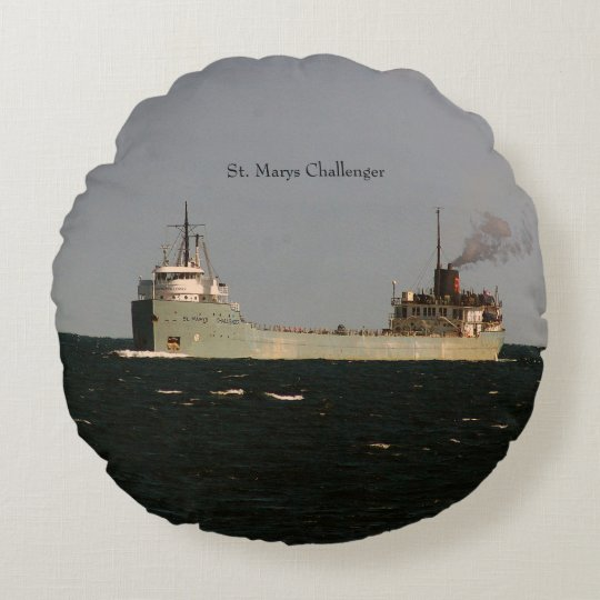 St. Marys Challenger round pillow