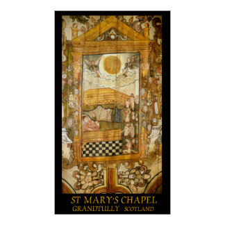 st mary's chapel grandtully scotland poster
