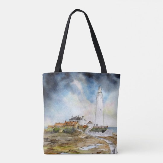 St. Mary's Lighthouse Tote Bag