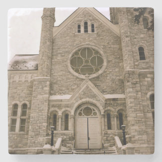 St. Mary's, Middlebury, Vermont Stone Beverage Coaster