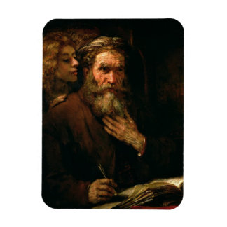 St. Matthew and The Angel, 1655-60 (oil on canvas) Rectangular Photo Magnet