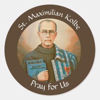 St. Maximilian Kolbe Feast Day August 14 Classic Round Sticker