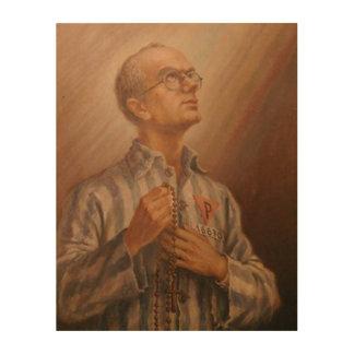 St. Maximilian Kolbe Wood Print