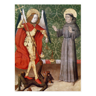 St. Michael and St. Francis of Assisi, c.1480 Postcard