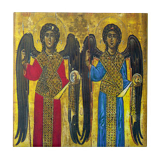 St Michael and St Gabriel icon Ceramic Tile