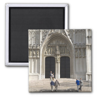St. Michael and St. Gudula Cathedral, Brussels Square Magnet
