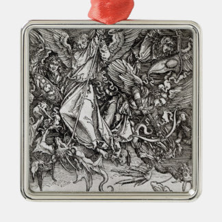 St. Michael and the Dragon, from a Latin Metal Ornament