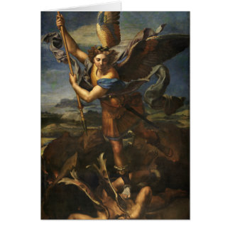 St. Michael and the Satan - Raphael Card