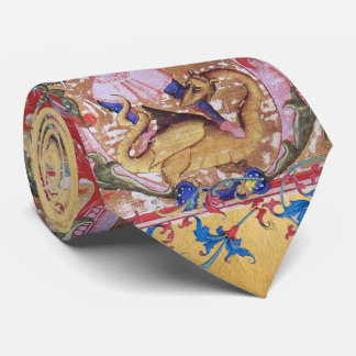 St. Michael Archangel And Dragon Antique Floral Tie