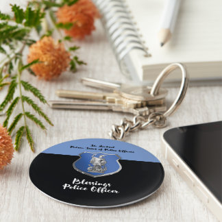 St. Michael Blessings to New Police Officer Keychain
