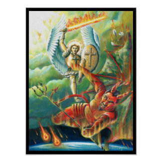 St.Michael Defeats the Devil Poster