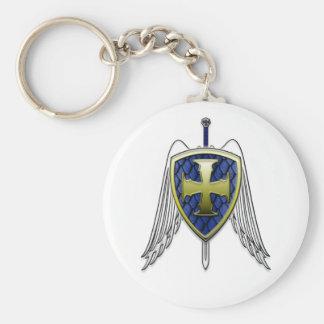 St Michael - Dragon Scale Shield Key Chains