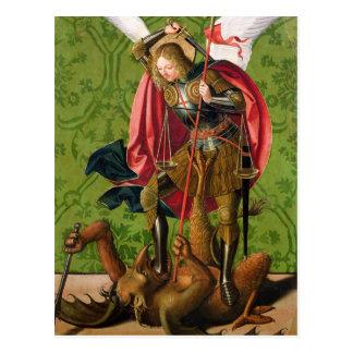 St. Michael Killing the Dragon Postcard