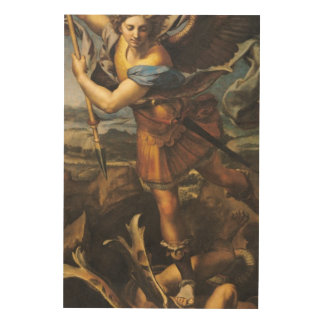 St. Michael Overwhelming the Demon, 1518 2 Wood Canvas