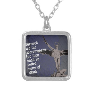 St. Michael - Patron Saint of Police Officers Silver Plated Necklace