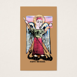 St Michael prayer card