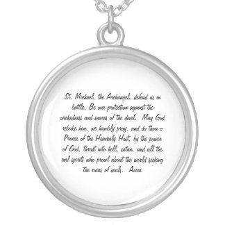 St Michael prayer necklace