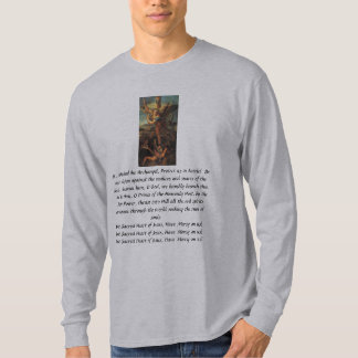 """St. Michael Prayer""  Theresa Hartman T-Shirt"