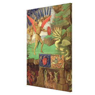 St. Michael Slaying the Dragon Stretched Canvas Print