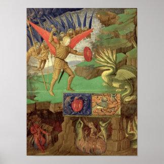 St. Michael Slaying the Dragon Poster
