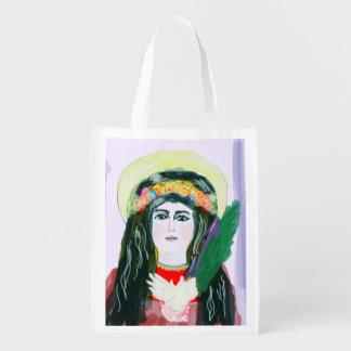 St. Michael the Archangel and Saint Philomena Reusable Grocery Bag