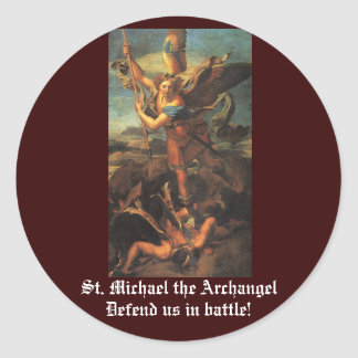 St. Michael the Archangel Classic Round Sticker