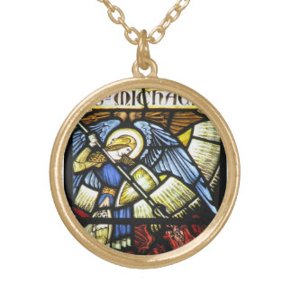 ST MICHAEL THE ARCHANGEL GOLD PLATED NECKLACE