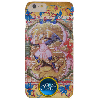 St. Michael the Archangel Monogram Antique Floral Barely There iPhone 6 Plus Case