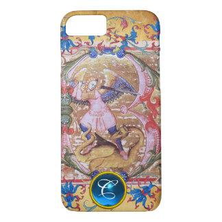 St. Michael the Archangel Monogram Antique Floral iPhone 8/7 Case