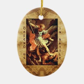 St. Michael the Archangel Prayer Ceramic Ornament