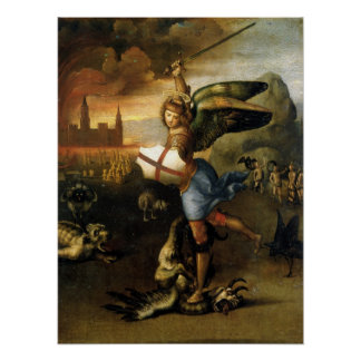 St. Michael the Archangel - Raphael Poster