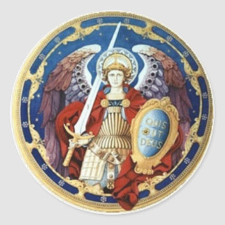 St. Michael The Archangel Round Sticker