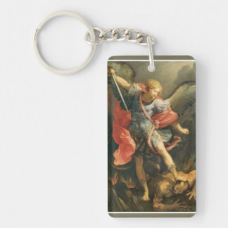 St. Michael the Archangel slaying the Devil Keychain