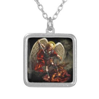 St. Michael the Archangel Square Pendant Necklace