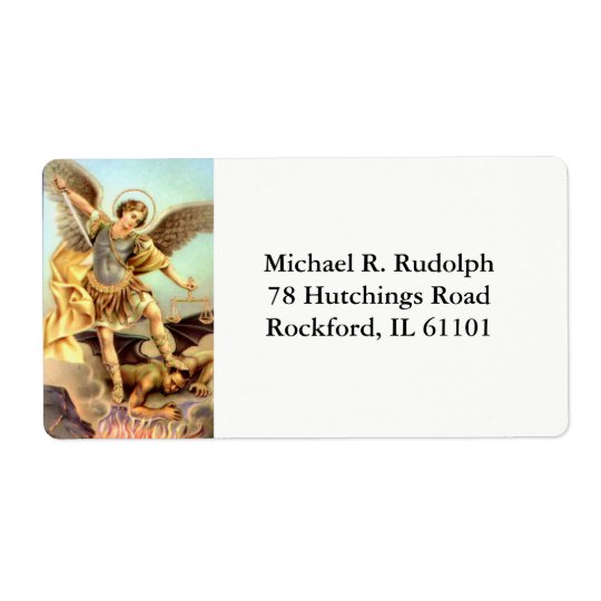 St. Michael the Archangel Sword Armour Shipping Label
