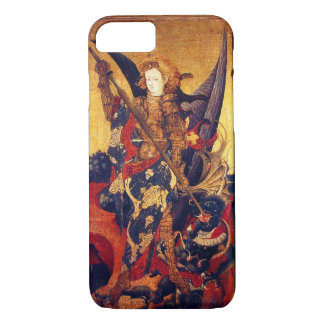 St. Michael Vanquishing Devil as Medieval Knight iPhone 8/7 Case