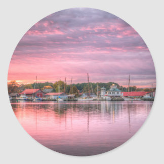 St. Michaels Harbor Classic Round Sticker