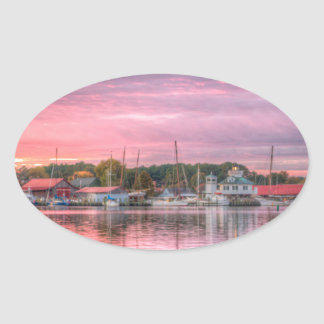 St. Michaels Harbor Oval Sticker