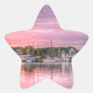 St. Michaels Harbor Star Sticker