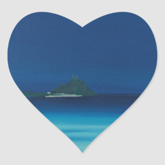 St Michaels Mount 1. Heart Sticker