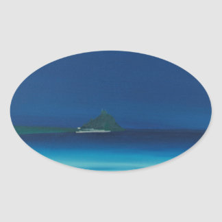 St Michaels Mount 1. Oval Sticker