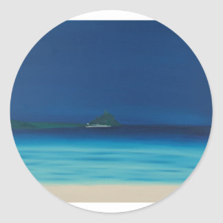 St Michaels Mount 1. Round Sticker