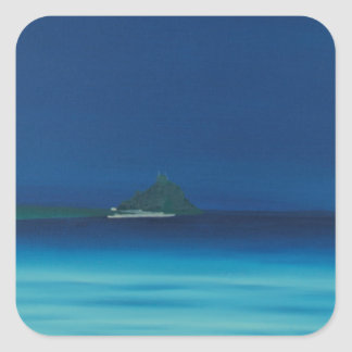 St Michaels Mount 1. Square Sticker
