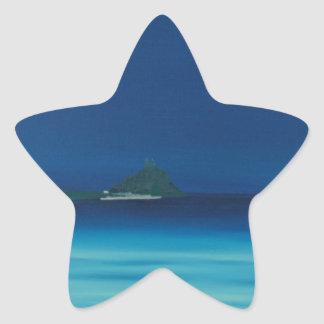 St Michaels Mount 1. Star Sticker