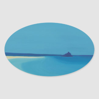St Michaels Mount 2. Oval Sticker