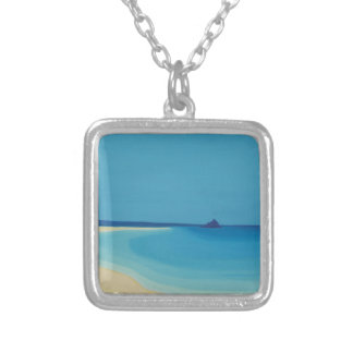 St Michaels Mount 2. Silver Plated Necklace