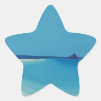 St Michaels Mount 2. Star Sticker